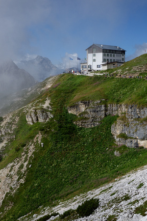 Rifugio on the flank of Tre Chime, the Dolomites, Italy