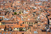 Venice, Italy rooftops from the clocktower.